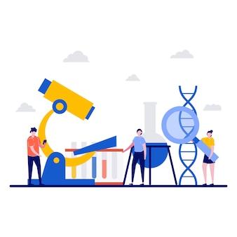 Laboratorio di ricerca, concetto di tecnologia di sviluppo scientifico con carattere minuscolo.