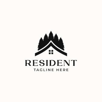 Modello di logo immobiliare residente