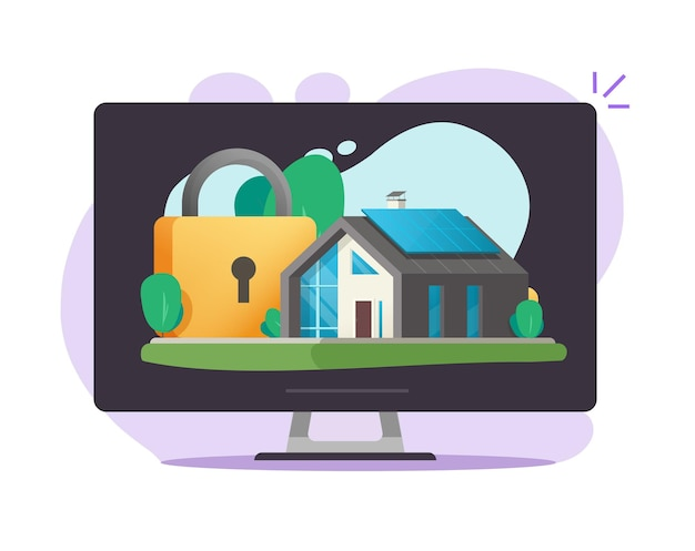 Casa residenziale e assicurazione di protezione sicura della casa online