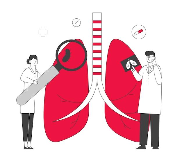 Concetto di medicina respiratoria, sanità e pneumologia.