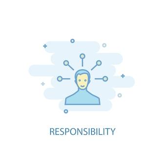 Concetto di linea di responsabilità. icona della linea semplice, illustrazione colorata. design piatto simbolo di responsabilità. può essere utilizzato per ui/ux