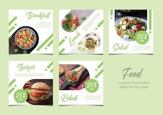 Pacchetto di modelli di post sui social media di restaurant food