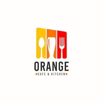 Concetto di design del logo del ristorante logo del festival di cibi e bevande