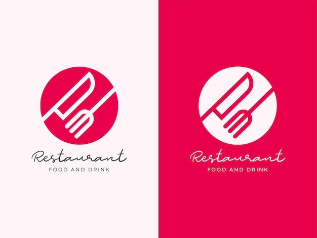 Concetto di design del logo del ristorante