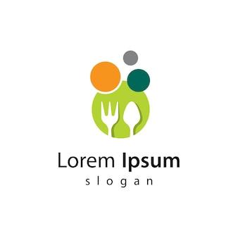 Disegno dell'illustrazione delle immagini del logo del ristorante