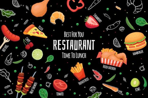 Carta da parati murale del ristorante