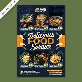Promozione del poster del ristorante in stile design piatto