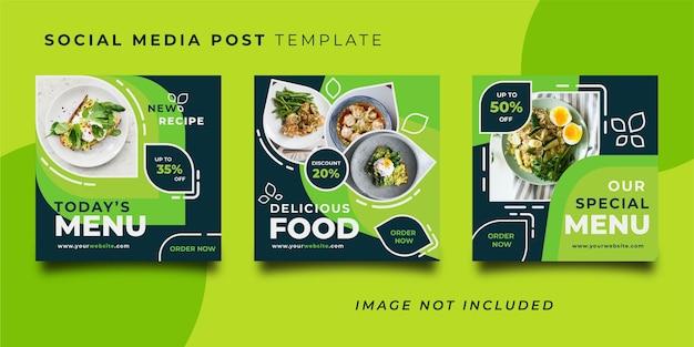Modello di post sui social media del ristorante