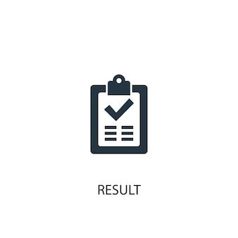 Icona del risultato. illustrazione semplice dell'elemento. disegno di simbolo del concetto di risultato. può essere utilizzato per web e mobile.