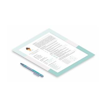 Curriculum con design infografico, cv