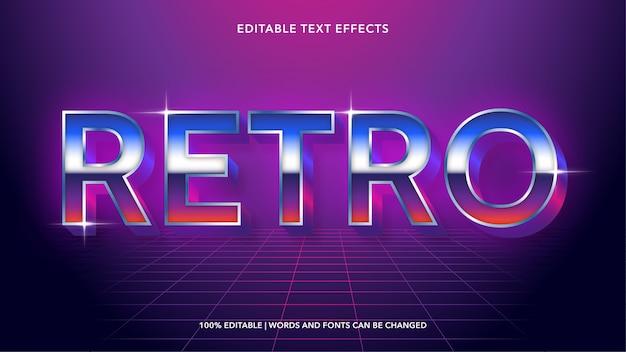 Effetti di testo modificabili retrò anni '80