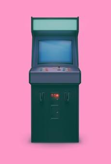Macchina arcade realistica degli anni '80 retrò