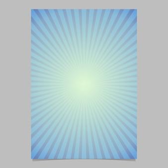 Retro astratto star burst flyer modello di sfondo - grafico vettoriale sfondo grafico da righe radiali