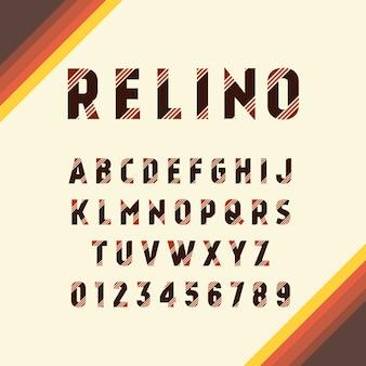 Set di progettazione alfabeto retrò