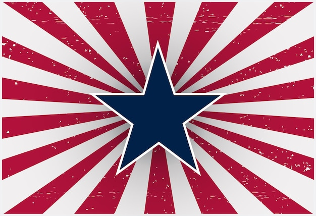 Sfondo del giorno dell'indipendenza americana retrò