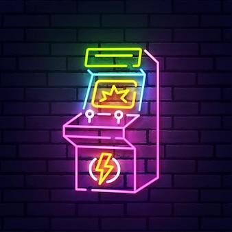 Insegna al neon arcade retrò