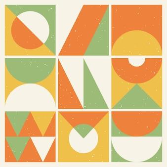 Sfondo retrò con forme geometriche astratte