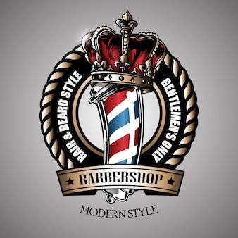 Logo del barbiere retrò