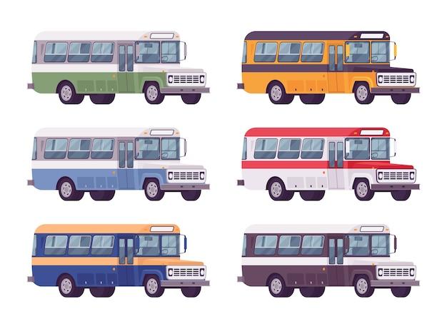 Autobus retrò in colori vivaci
