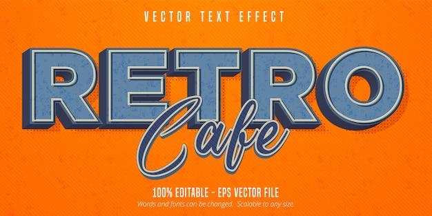 Testo di caffè retrò, effetto di testo modificabile in stile vintage