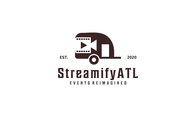 Logo del design della trasmissione dal design retrò dell'auto