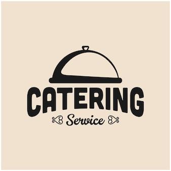 Design del logo del servizio di catering retrò