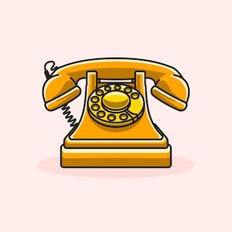Telefono arancione vintage classico retrò