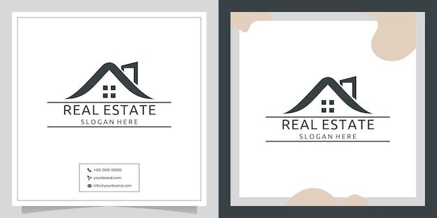 Design del logo immobiliare retrò creativo