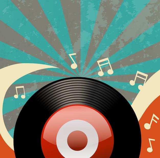 Design retrò con registratore su disco