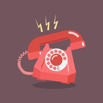 Il telefono a quadrante retrò squilla