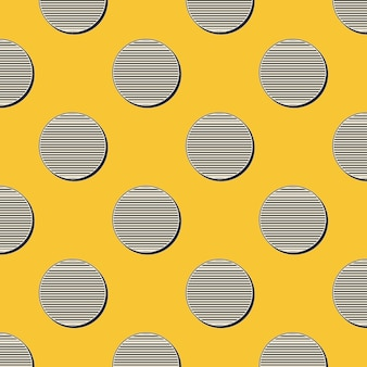 Motivo a pois retrò, sfondo geometrico astratto in stile anni '80 e '90. illustrazione geometrica semplice