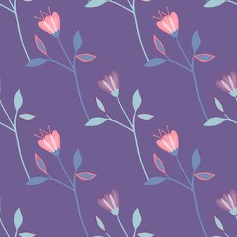 Modello senza cuciture fiore retrò. carta da parati floreale romantica. ornamento decorativo.