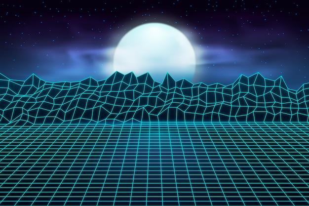 Retrò paesaggio futuristico