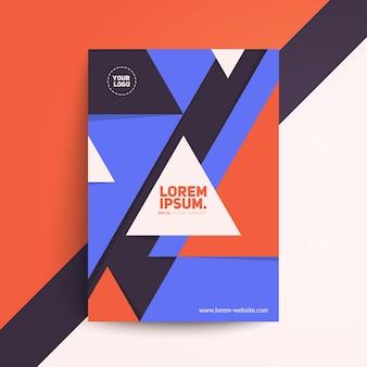 Retro design geometrico della copertina. modernismo svizzero. Vettore Premium