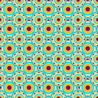 Retro modello geometrico senza soluzione di continuità con punti cerchi. vettore di texture astratta