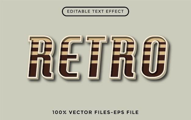 Retro - effetto di testo modificabile con illustrator vettore premium