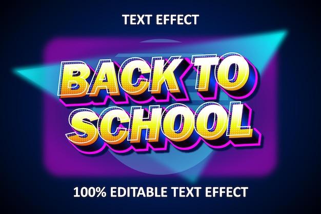 Effetto di testo modificabile con luce retrò blu giallo
