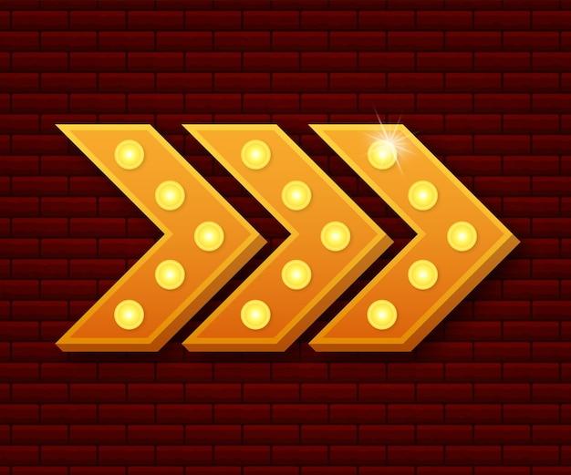 Cornice d'epoca tabellone per le affissioni retro lightbox. lightbox con design personalizzabile. banner classico per i tuoi progetti o pubblicità. illustrazione vettoriale.