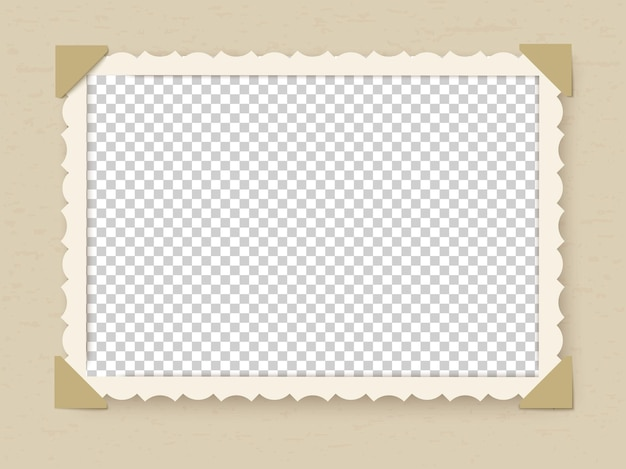 Illustrazione di design del telaio foto retrò