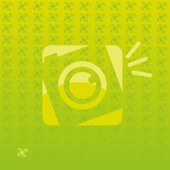 Retro photography libero logo Vettore Premium