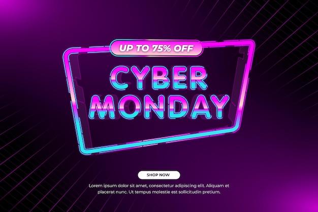 Vendita cyber lunedì tecnologia realistica retrò