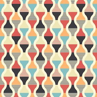 Design retrò seamless pattern Vettore Premium