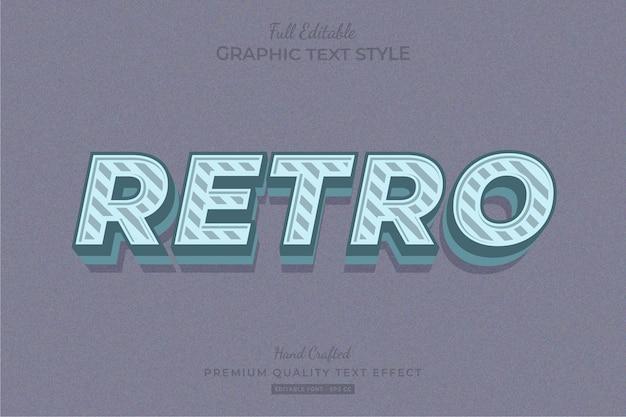 Stile carattere retro spogliato modificabile effetto testo