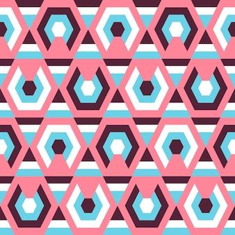 Modello senza cuciture colorato geometrico astratto di retro stile.