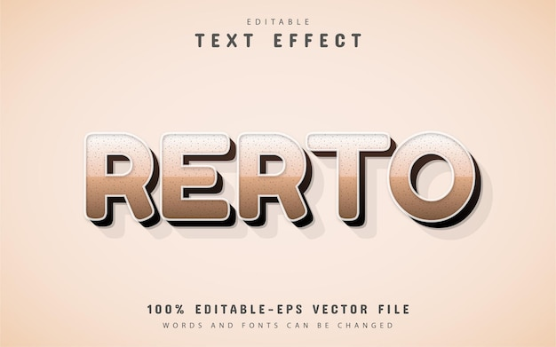 Testo retrò, effetto di testo 3d modificabile