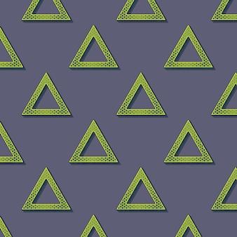 Modello di triangoli retrò, sfondo geometrico astratto in stile anni '80 e '90. illustrazione geometrica semplice