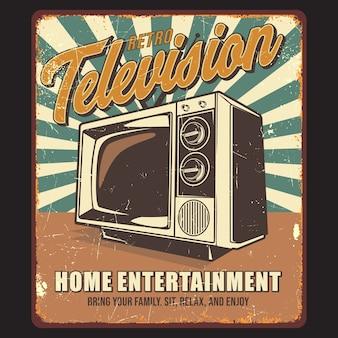 Grafica di poster vintage tv retrò
