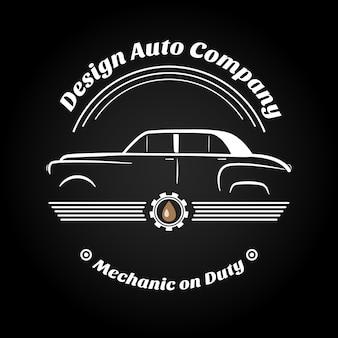 Retro logo auto d'epocasegni aziendali
