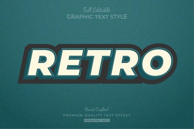 Stile del carattere di effetto di testo modificabile vintage retrò