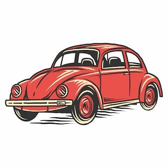 Illustrazione di auto vecchia vintage retrò